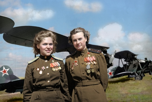 Rufina-Gasheva-Nataly Meklin-Heroes-of-the-Soviet-Union-famed-Night-Witches-World-War-II